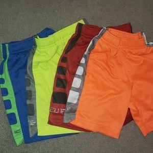 Lot-4 pair of boys nike elite dry fit shorts sz 3t